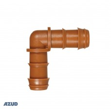 Коляно ф16 Кафяво за капково напояване Azud GreenTec
