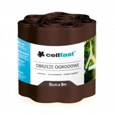 Лента ограничител за трева Cellfast /кафява/  дължина 9 метра, височина 15 cm.